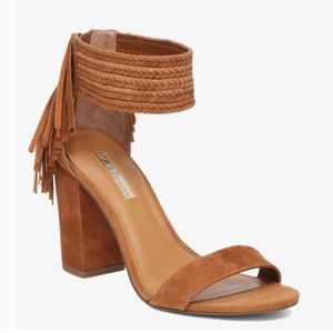 BCBGeneration tan Calizi block heel sandal